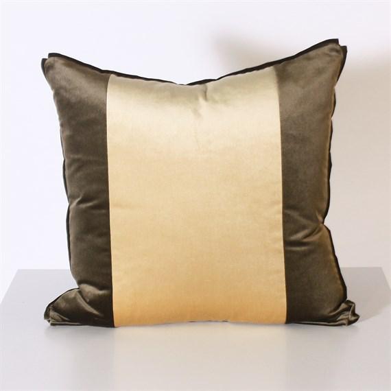 Pair of Two Stripe Pillows Upholstered in Kravet Velvet For Sale - Image 4 of 5