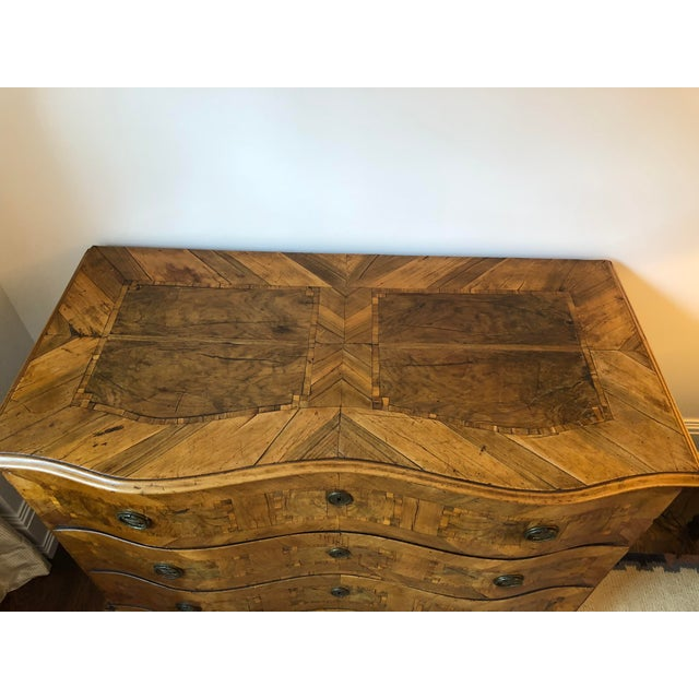 Wood Antique 18th C. Dutch Fruitwood Commode For Sale - Image 7 of 8