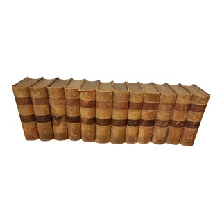 "12 Volume ""Bulwer's Novels"" Leather Bound Books For Sale"