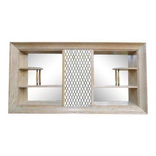 1960s Vintage Mid Century Modern Shadow Box Shelf Unit For Sale
