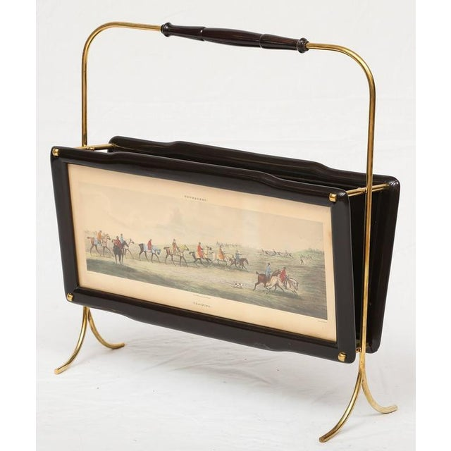 1940s Italian Magazine Rack with two Henry Alken Engravings For Sale - Image 5 of 10