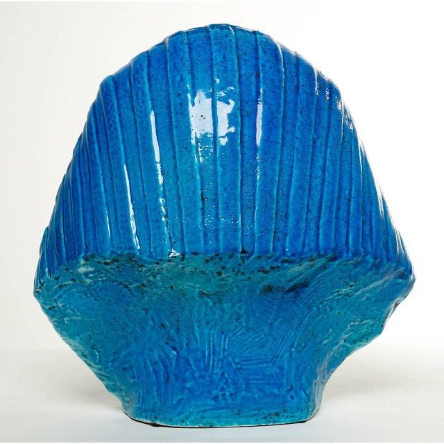 Persian Blue Glaze King Tutankhamun Ceramic Bust by Ugo Zaccagnini - Image 7 of 8