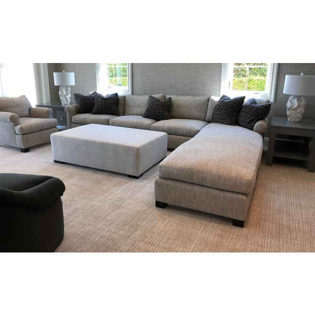 Custom Made Sectional Sofa with Long Chaise Lounge For Sale - Image 9 of 10