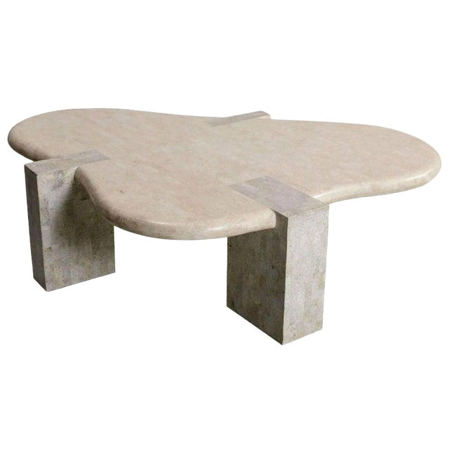 Tessellated Stone Biomorphic Coffee Table, by Maitland Smith For Sale