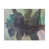 Image of Abstract in Charcoal & Sage, 1960s For Sale