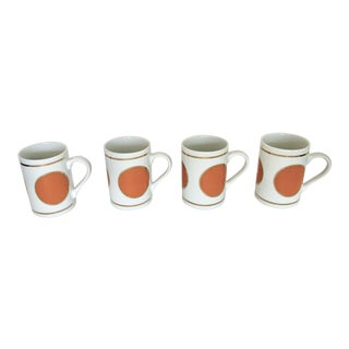 Four Vintage Johnathan Adler Coffee Mugs For Sale