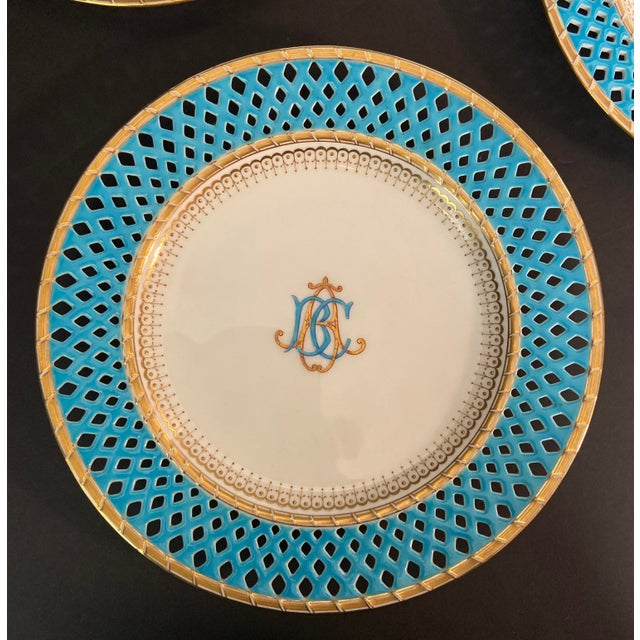 Minton Late 19th Century Mintons Presentation Plates for Thomas Goode & Co. - Set of 10 For Sale - Image 4 of 13