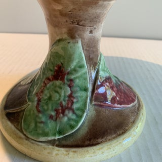 19th Century Vintage Majolica Begonia Leaf Cake Stand/Compote Preview