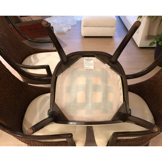 Artistica Modern Dining Arm Chairs - A Set of 4 For Sale - Image 4 of 8