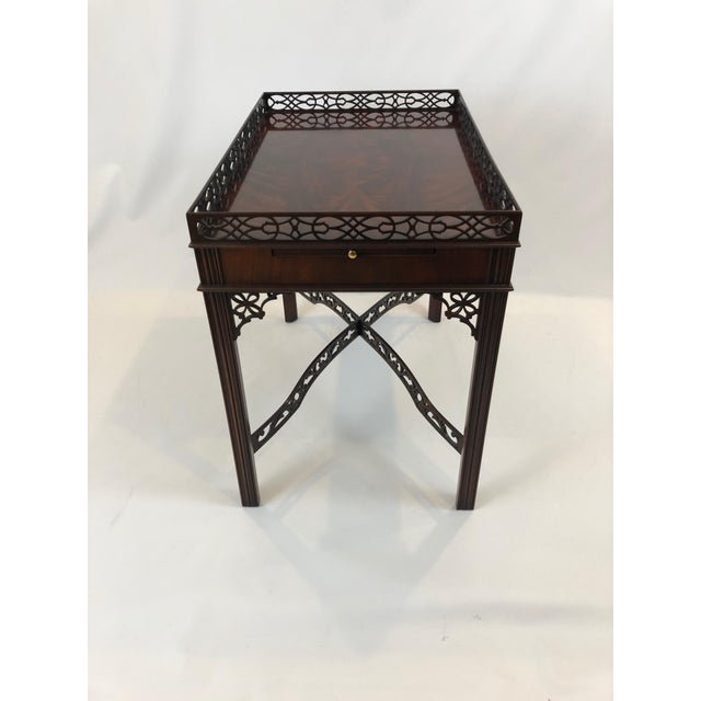 Chippendale Chippendale Flame Mahogany Side Table For Sale - Image 3 of 13