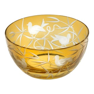 Finch Trinket Bowl I, Amber For Sale
