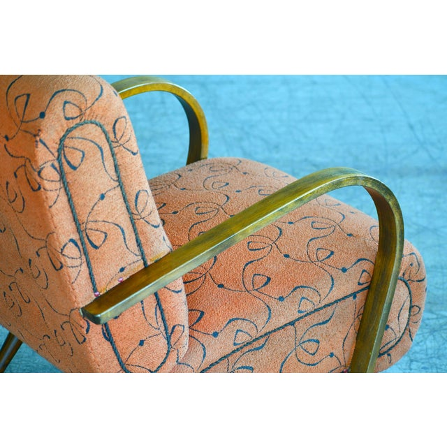 Paolo Buffa Style Midcentury Italian Lounge Chair For Sale In New York - Image 6 of 9