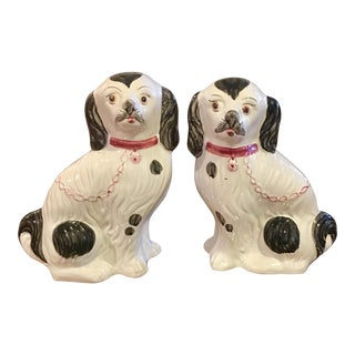 Vintage Staffordshire Style Spaniels - A Pair
