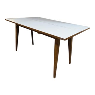 Vintage Mid Century Modern Convertible Dining Table For Sale
