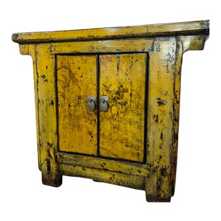 Antique Chinese Small Lacquered Cabinet For Sale