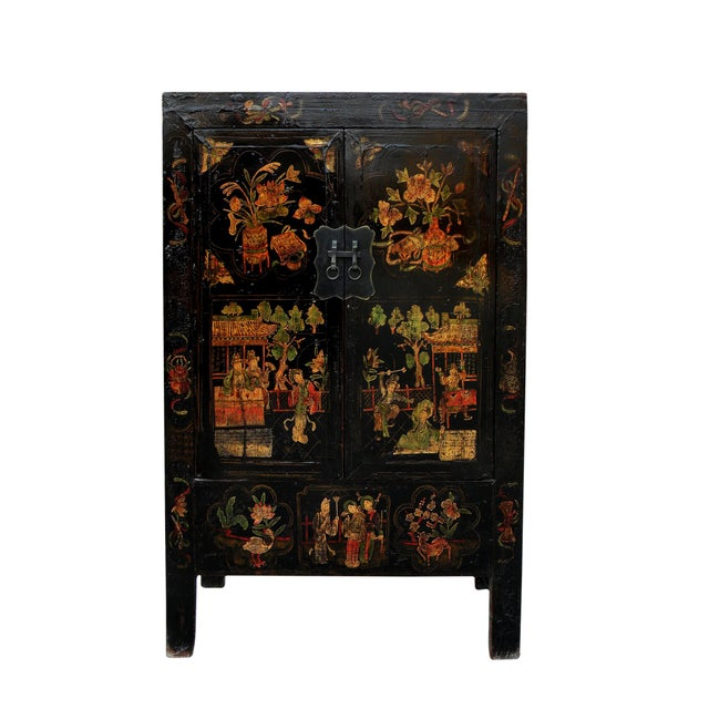 This striking Chinese Chinoiserie cabinet was retrieved from Shanxi Province, a centuries old mountain city located in the...
