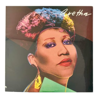 1980s Andy Warhol Aretha Franklin 1980s Record Art For Sale