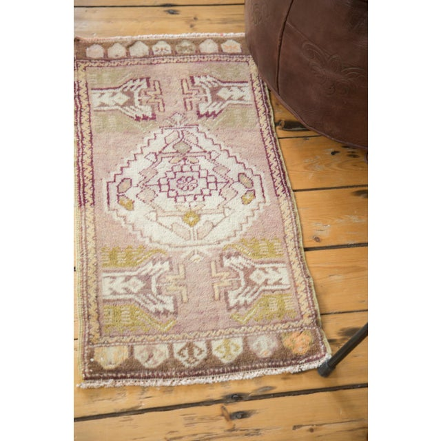 Mauve and Tan Vintage Oushak Rug - 1′5″ × 2′8″ - Image 4 of 6