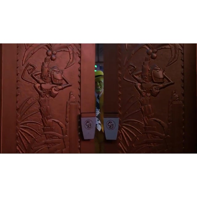 """1990s Large 93"""" Tall Gold Coco Bongo Art Deco Prop Door From """"The Mask"""" For Sale - Image 5 of 6"""