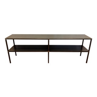 1980s Industrial Style Metal Two-Level Console Table For Sale