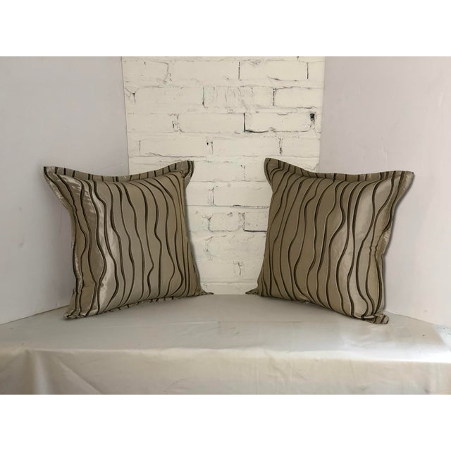 "Pair of 20"" Square Jim Thompson Pillows For Sale - Image 9 of 13"