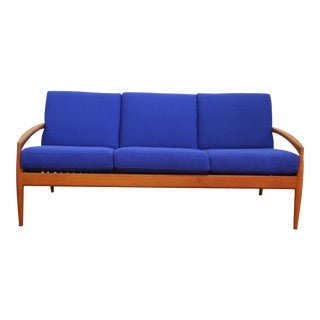 "Danish Teak ""Paper Knife"" Kai Kristiansen Sofa For Sale"
