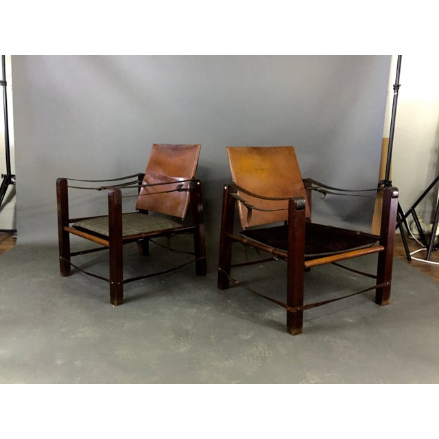American Mid-Century Safari Chair, Reversible Seat Cover For Sale - Image 13 of 13