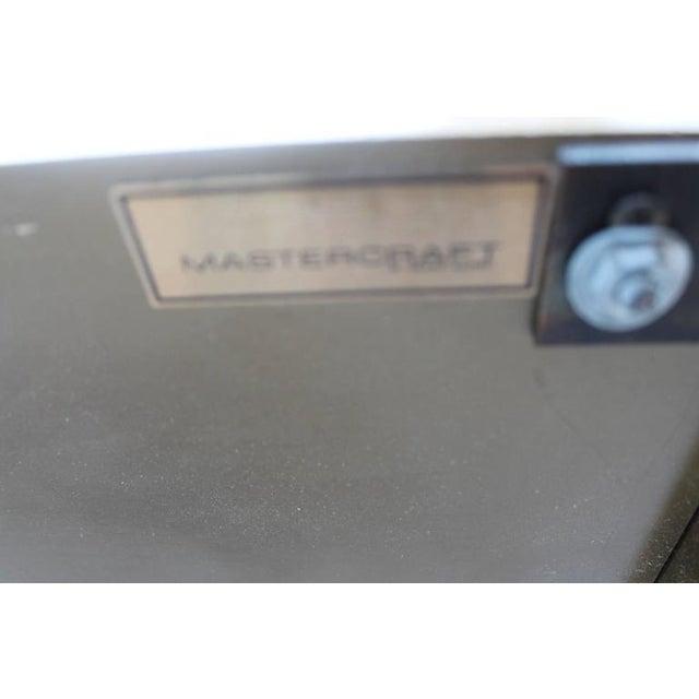 Gold Mastercraft Greek Key Brass King Size Headboard For Sale - Image 8 of 9