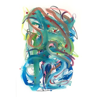 Whirlwind Original Painting on Paper For Sale
