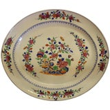 Image of 19th Century Famille Rose Chinese Export Platter For Sale