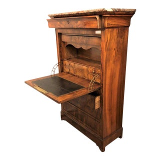 19th Century Marble Top Biedermeier Abbatant Desk For Sale