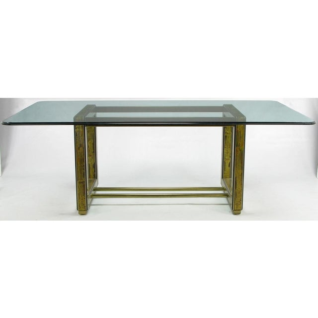 Mid-Century Modern Mastercraft Bernhard Rohne Acid-Etched Brass Table For Sale - Image 3 of 9