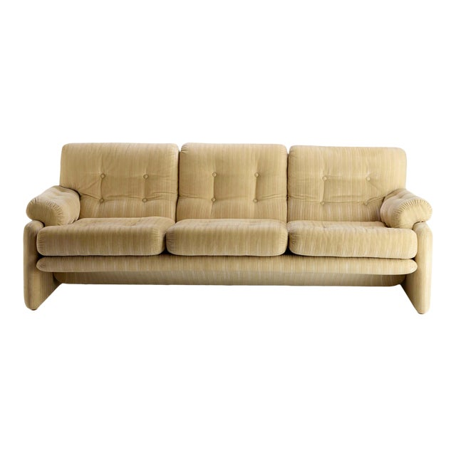 Vintage Tabia and Afra Scarpa for C&b Italia 3 Seat Sofa For Sale