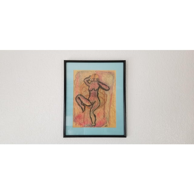 1990 Ghort Marino Abstract Nude Female Painting For Sale - Image 11 of 11