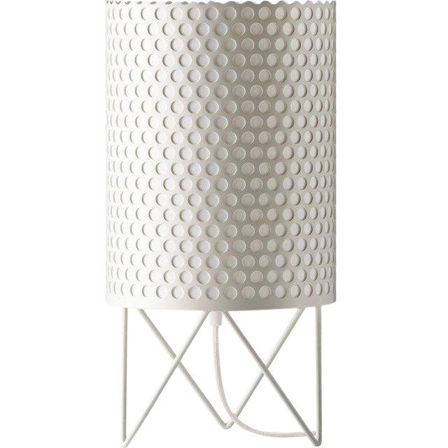 Mid-Century Modern Joaquim Ruiz Millet White Aluminum 'Abc' Table Lamp For Sale