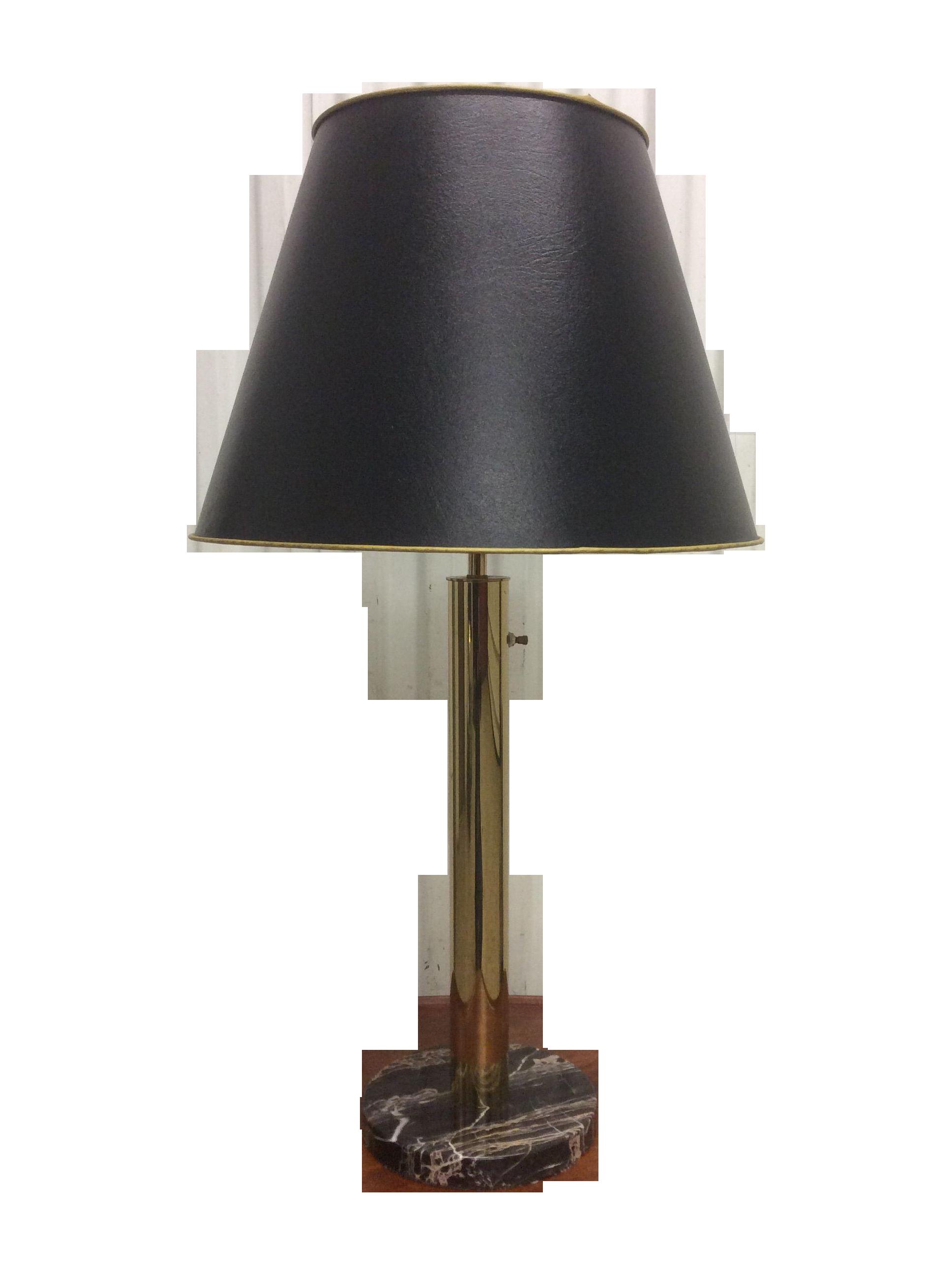 Walter Von Nessen Brass U0026 Marble Table Lamp   Image 1 ...