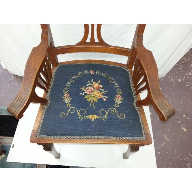 Victorian Irish Green Man Face Throne Chair - Image 4 of 9