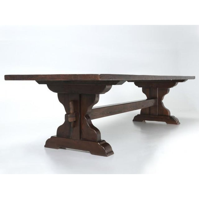 Antique French Oak Trestle Dining Table For Sale - Image 11 of 11