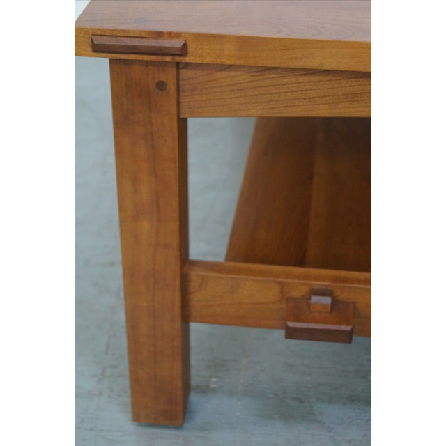 Stickley Cherry Mission Style Square Coffee Table - Image 4 of 10