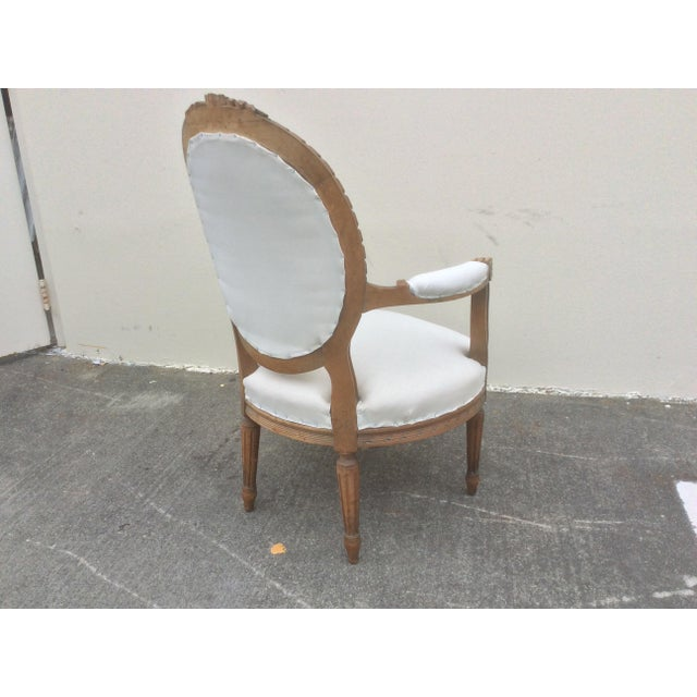 White French Arm Chair With Rounded Back For Sale - Image 8 of 10