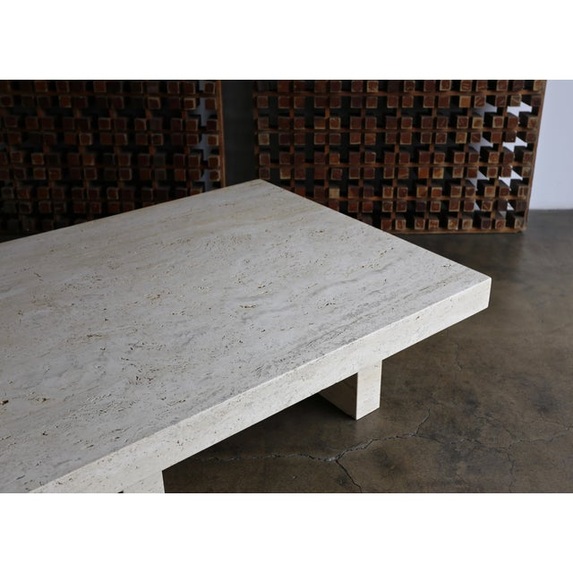 Travertine Coffee Table, Circa 1980 For Sale - Image 12 of 13
