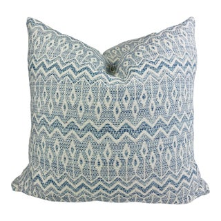 """Jane Churchill """"Charo"""" in Blue 22"""" Pillows-A Pair For Sale"""