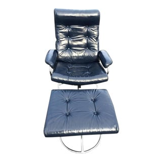 Plycraft Stressless Recliner Lounge Chair & Ottoman