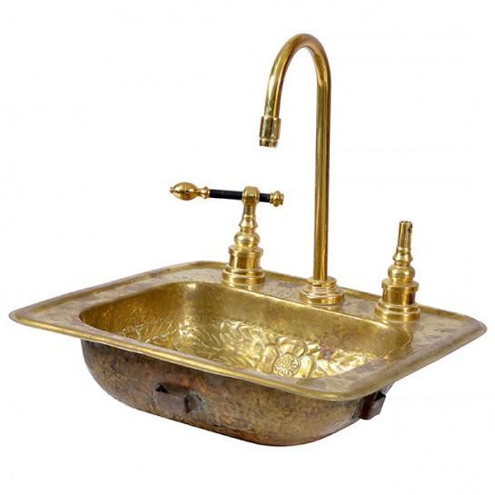 Art Deco 1920s Art Deco Brass Sink For Sale - Image 3 of 12