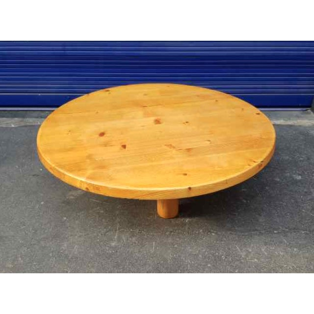 Mid-Century Modern Charlotte Perriand for Les Arcs Stunning Big Pine Coffee Table For Sale - Image 3 of 5
