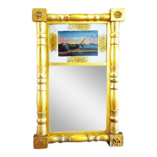 Federal Mirror Reverse Painted Mirror