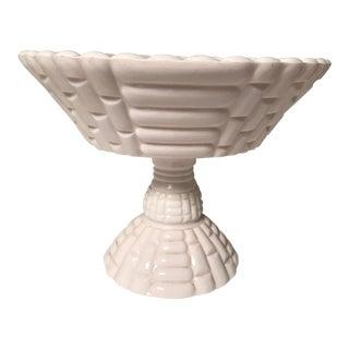 1950s Hollywood Regency Pink Milk Glass Fruit Bowl