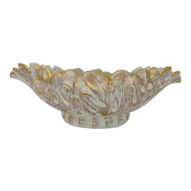 Vintage Haeger 22k Gold Ceramic Planter For Sale