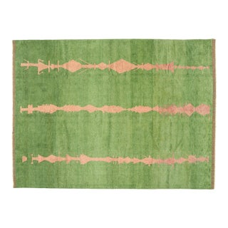 Contemporary Moroccan Area Rug With Abstract Expressionist Style- 10'05 X 14'02 For Sale