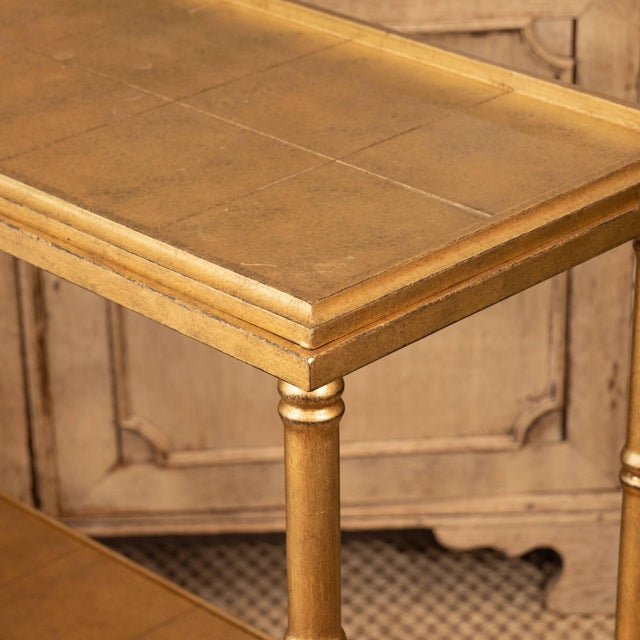 Gold Console Table For Sale In New York - Image 6 of 10